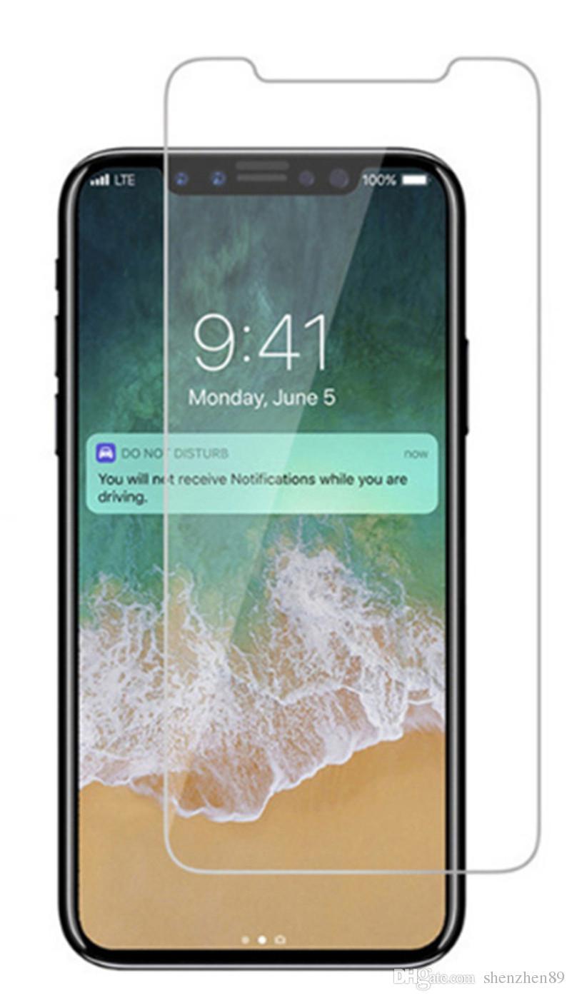 Новый Закаленное Стекло-Экран Протектор Пленки Гвардии 9 H Твердость Взрыв Shatter Протектор Фильм Для iPhone X 8 7 Plus 6 S 5 5 S Samsung S8 S