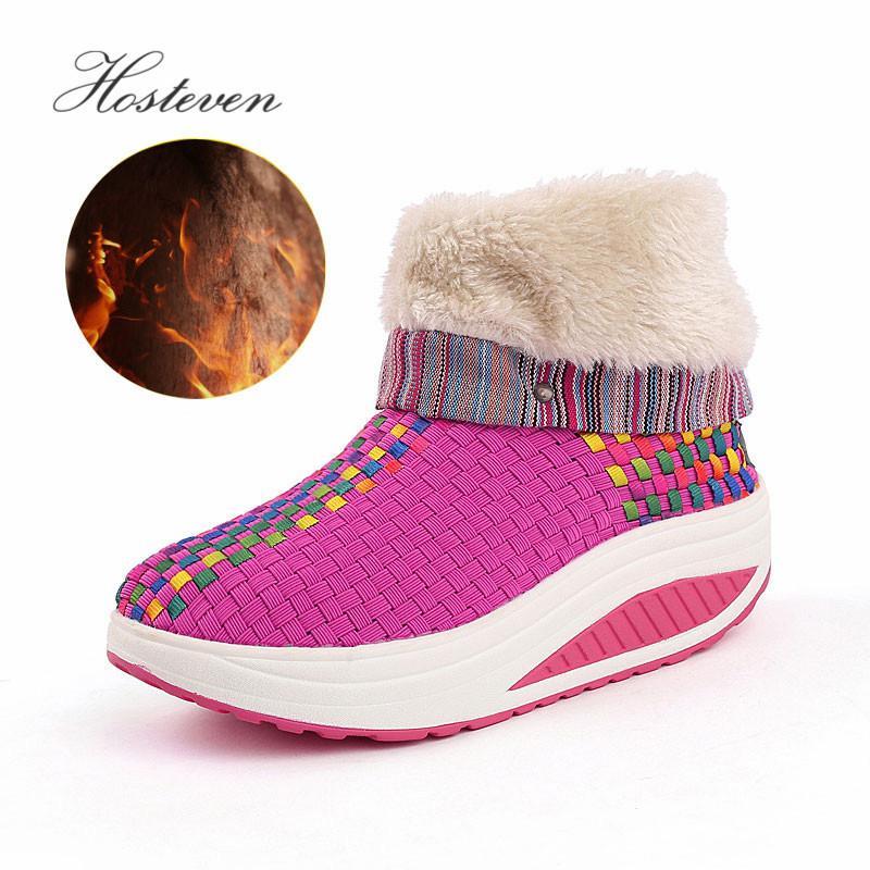 Acheter 2019 Hosteven Femmes Chaussures Casual Sport Mode Chaussures De Marche  Appartements En Peluche Hauteur Augmentant Mocassins Respirant Air Maille  ... 21fde8e9c44