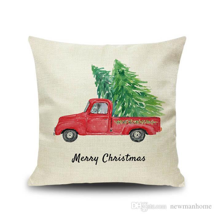 Großhandel Weihnachten Skizze Leinen Kissenbezug Standardgröße Auto ...