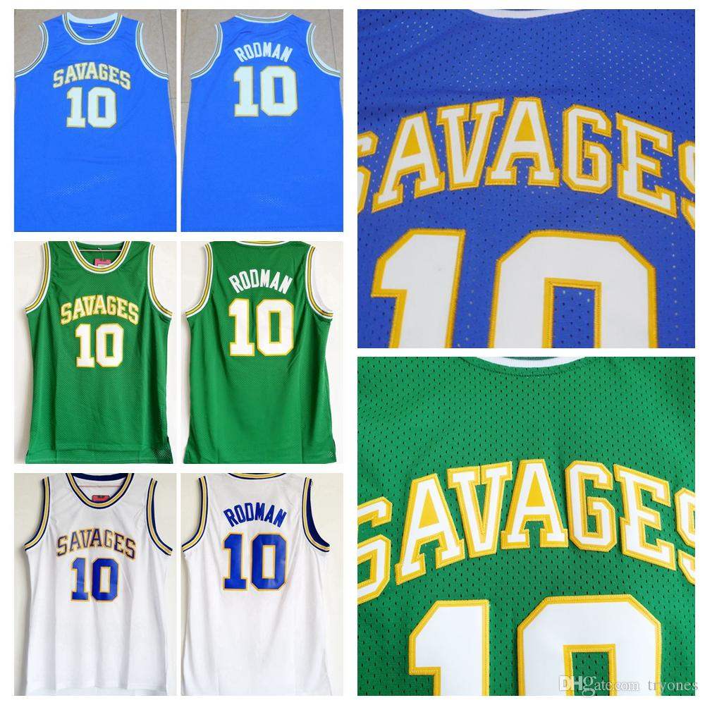 detailed look 16f9a 9fc2b Mens Oklahoma Savages Dennis Rodman #10 College Basketball Jerseys The Worm  Dennis Rodman Shirts Cheap Stitched Basketball Jersey