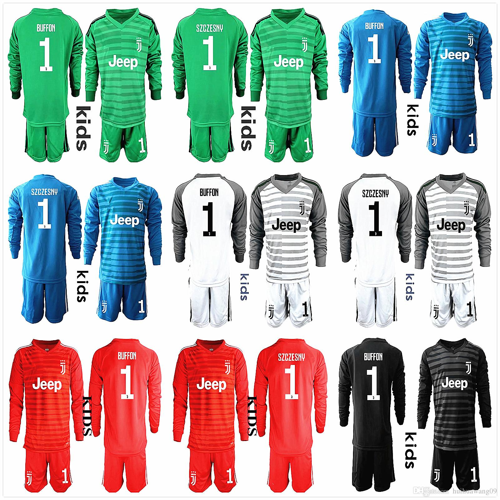 f797775f7 ... closeout best 2018 19 youth long sleeve juventusi goalkeeper jerseys  kids soccer sets 1 buffon kid