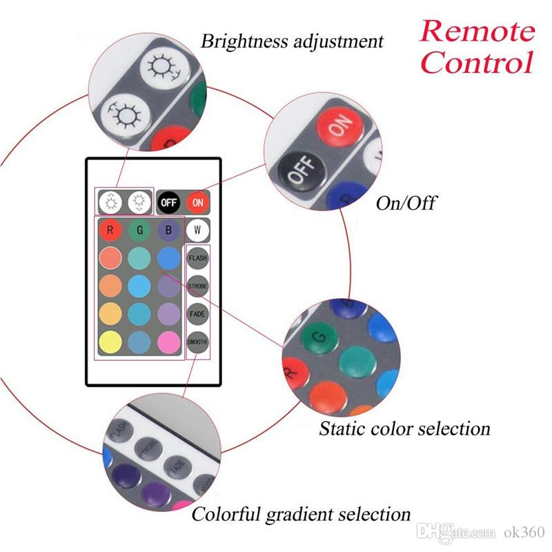 4 in 1 Car LED RGB Decorative Strip Light Car Styling Atmosphere Lamps Bluetooth Car Interior Light With Remote APP Control