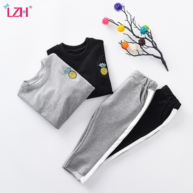 2ee550917 2019 Children 2018 Autumn Winter T Shirt+Pants Christmas Outfit Kids ...