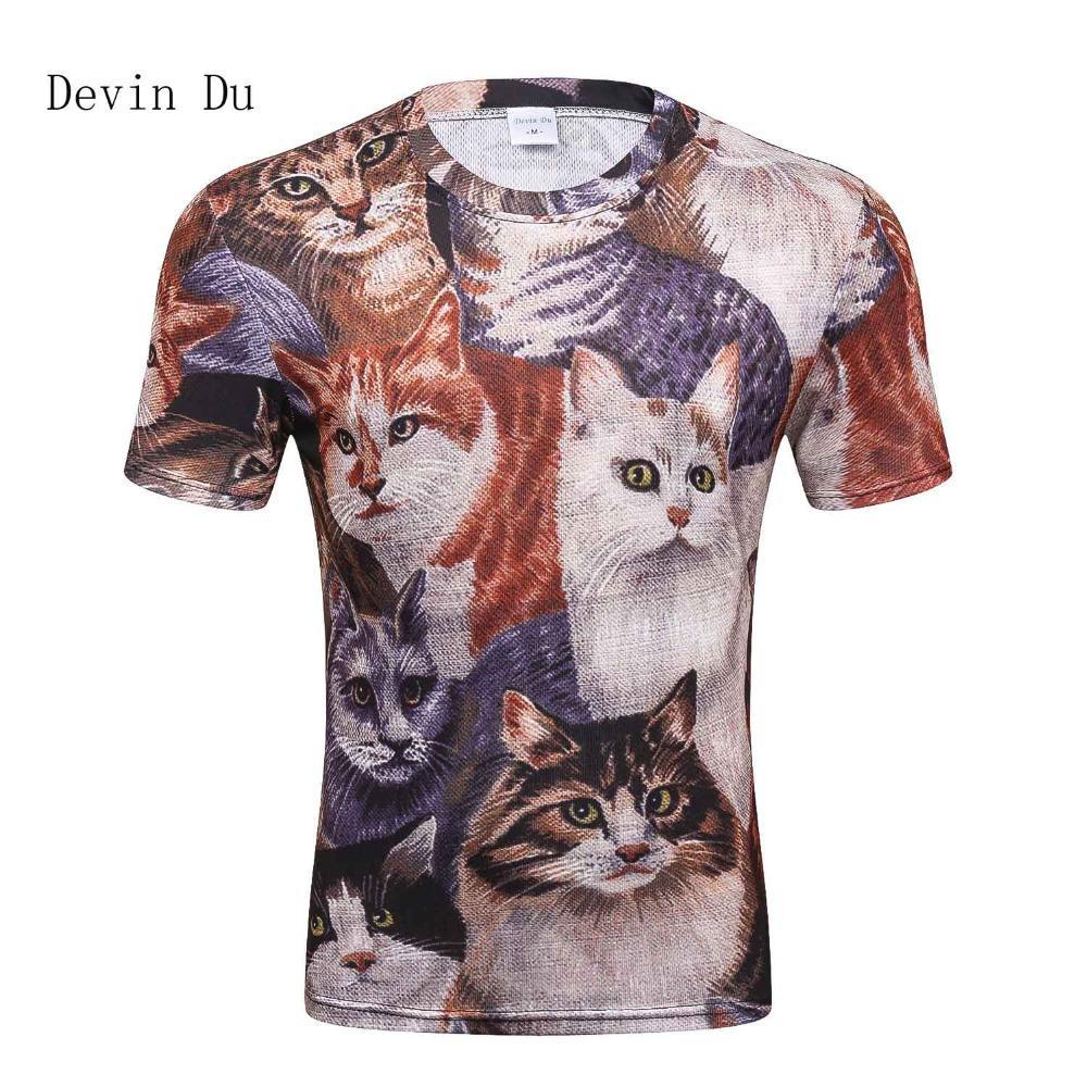 d56f4937f09 Devin Du Cats T Shirt Men 3d Print Meow Star Cat Hip Hop Cartoon TShirts  Summer Tops Tees Fashion 3d Shirts Cool Looking T Shirts Buy Designer Shirts  From ...