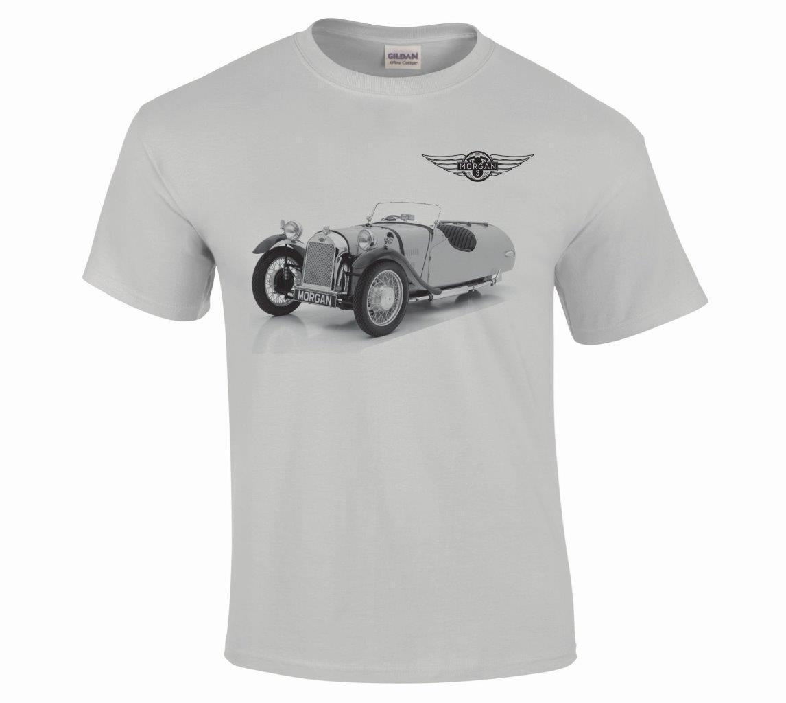 2018 New Men's Classic Vintage Morgan 3 Wheeler Car Fine Detail Illustration T Shirt S To 5xl Tee Shirt