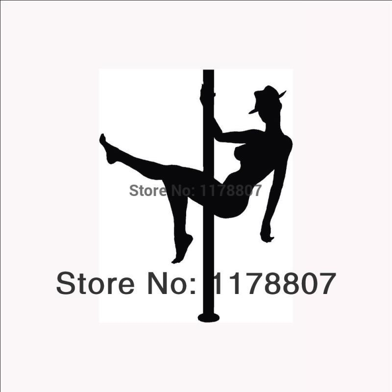 HotMeiNi Wholesale 20pcs/lot Stripper Pole Dancer Sticker Sexy Woman for Car Rear Windshield Truck Auto Door Laptop Decal Truck Club