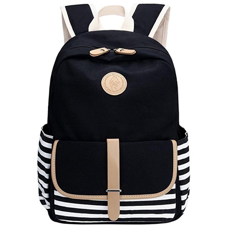 Fashion Bags Backpack Style Women Lightweight Canvas Laptop Bag Shoulder Daypack School Backpack Causal Handbag