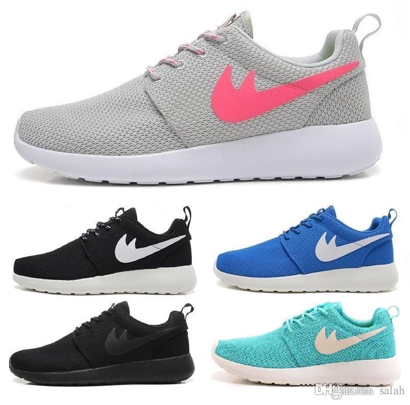 promo code e5ab5 e6d91 Acheter Nike Roshe Run 2018 Londres Olympique Trainers Chaussures De Course  Sport Classique Noir Blanc Bleu Mode Hommes Femmes Sport Run Chaussures Runs  ...