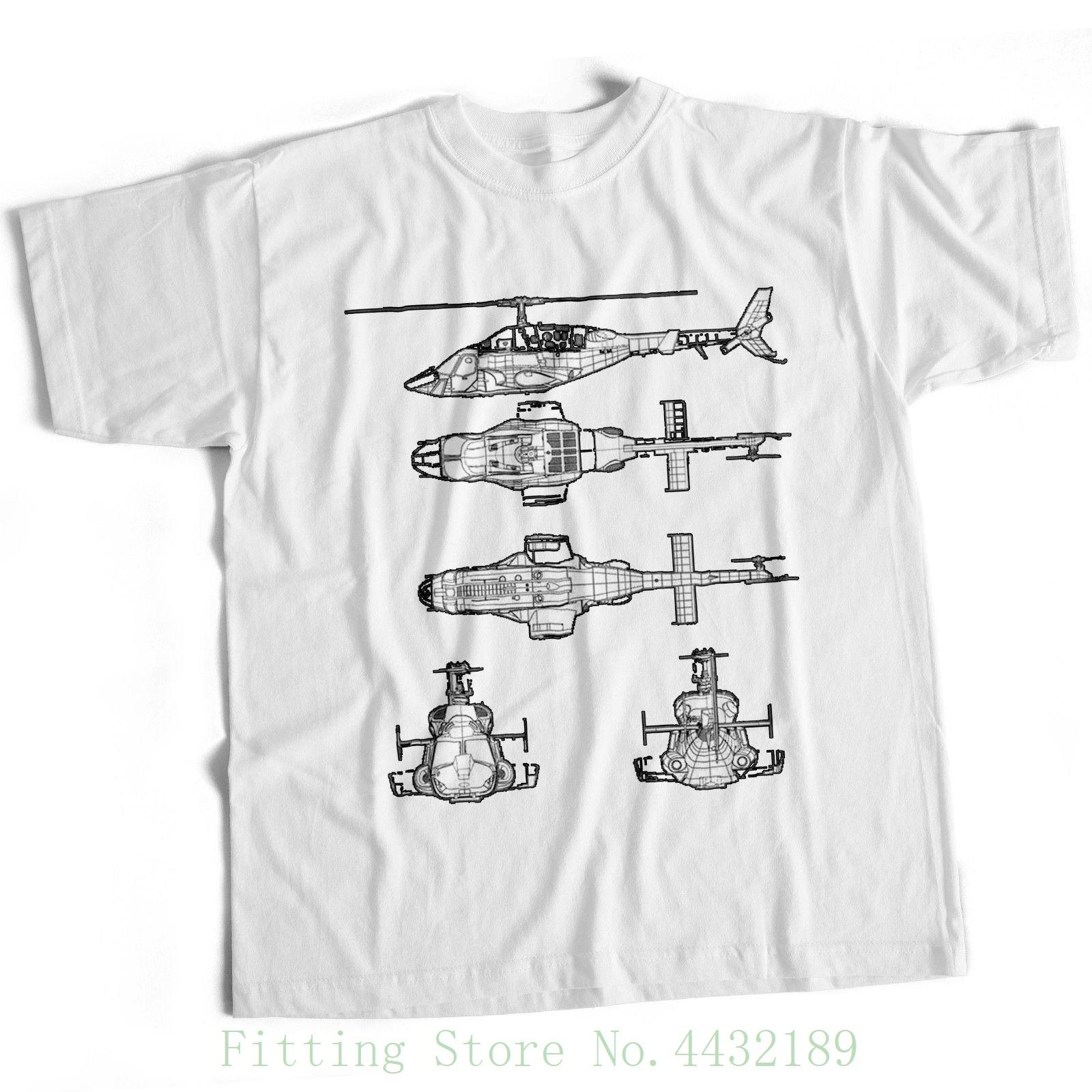 9074b124b Airwolf Helicopter Blueprint Mens T Shirt 80s Tv Series American Military  Film Pre Cotton Tee Shirt For Men Latest T Shirt Designs Coolest Shirts  From ...