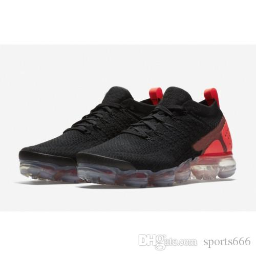 superior quality 55d1d 8f0ea 2018 UA Vapormax 2 Triple White Laser Orange Running Shoes Fashion Vapor  2.0 Chaussures Mens Trainers Sports Sneakers Free Shipping
