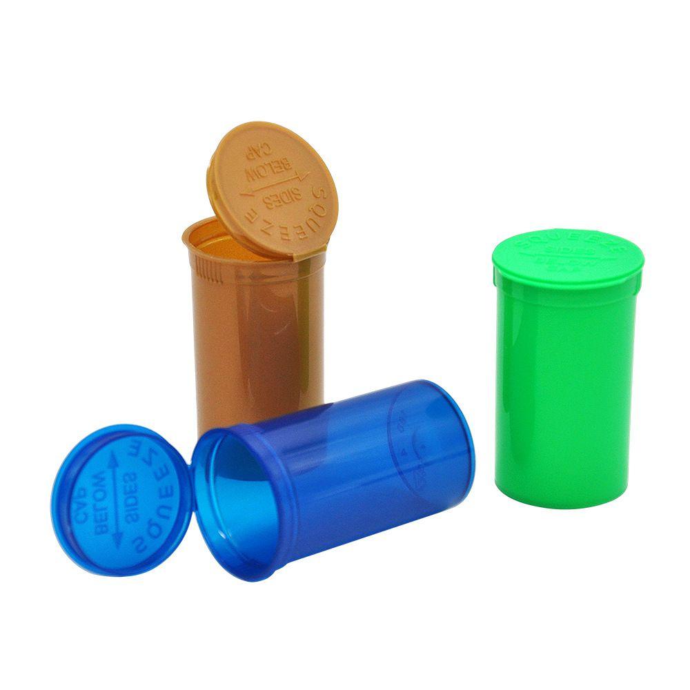 Vacío Exprimido Botella superior superior Caja de pastillas de hierbas Contenedores de hierbas Estuche de almacenamiento hermético con Sneak Bullet Snorter Dugout