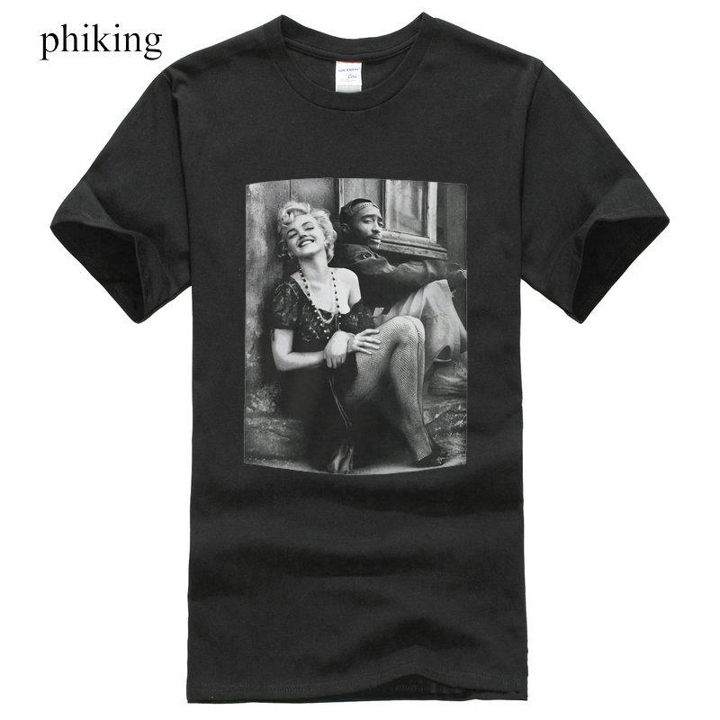 784b3ad9d8f Fashion 2pac Marilyn Monroe Couple T Shirts Hiphop Legend Funny Graphic Tee  Men Summer Style Buy Tee Top T Shirt Sites From Gingerliu, $31.26|  DHgate.Com