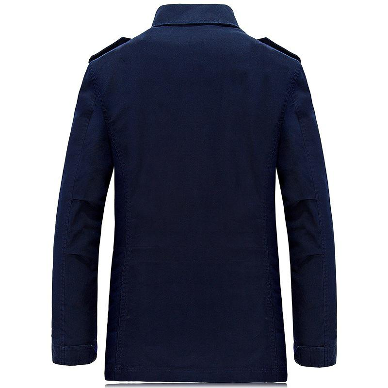 New Arrival Brand AFS JEEP Spring Autumn Medium Long Jacket Men Pockets Decoration Military Jacket Trench Coat jaqueta masculino