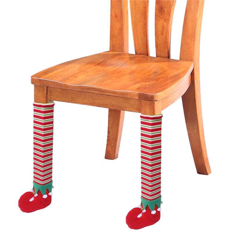 Großhandel 12 Stücke Weihnachten Santa Elfen Schuhe Tisch Stuhl