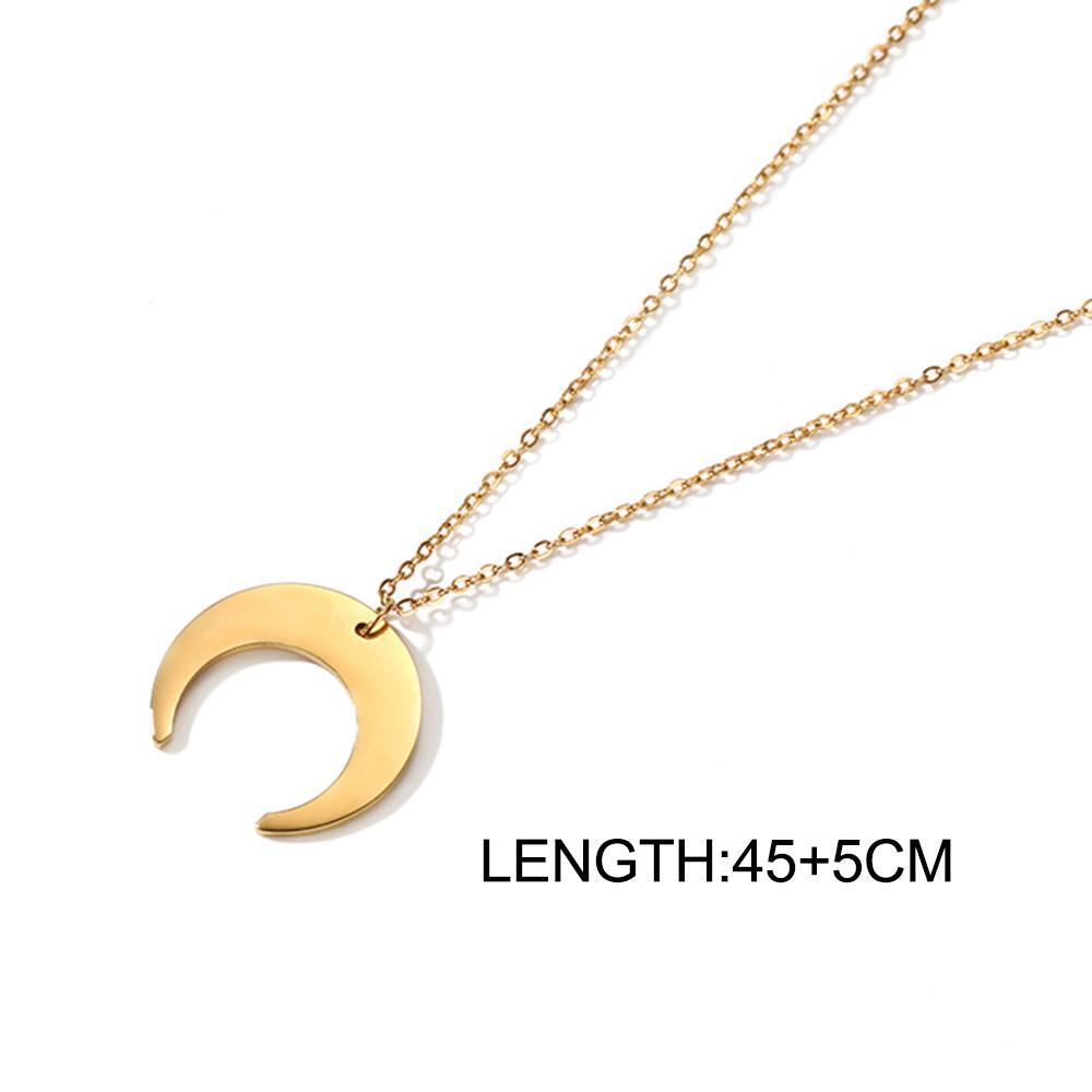 Prelife memory chic moon halskette frauen gekrümmte half crescent moon anhänger halsketten gold silber farbe halsreifen schmuck
