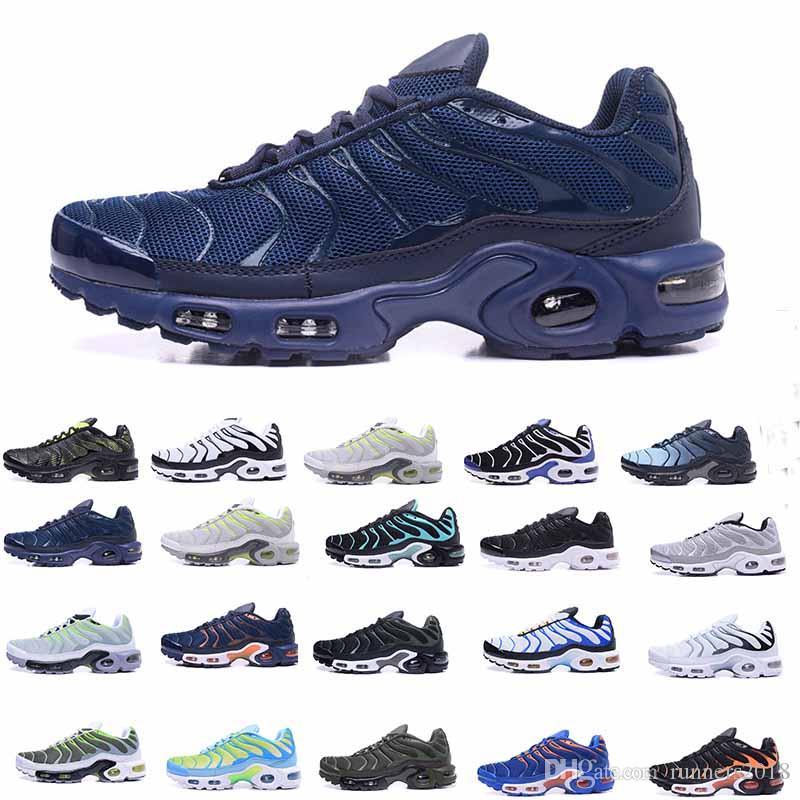 8d12808c8 Compre Sapatas Dos Homens Tn Homem Sapatilhas Casual Tênis De Corrida Respirável  Sapatos Cusion Ar Nova Qualidade Superior 24 Cores 40 46 De Runners2018, ...