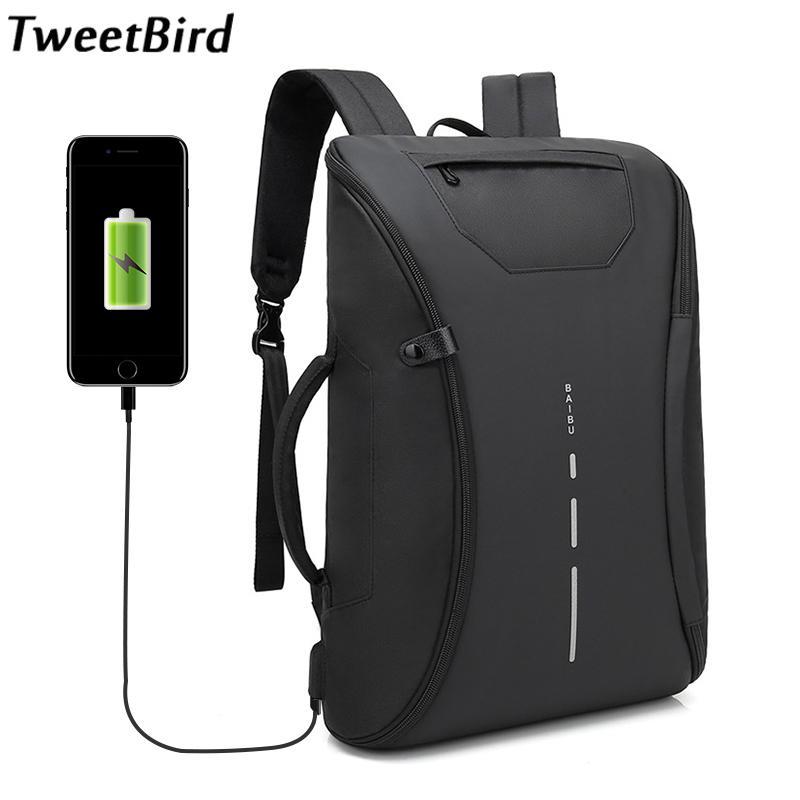 308dc8c01686 TweetBird Best Professional Men Business Backpack Travel Waterproof Oxford  Slim Laptop Backpacks School Bag Office Men Bags