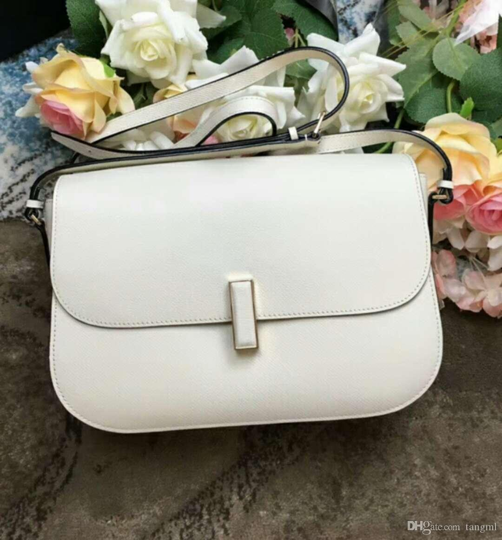 2019 women handbag classic OL moden fashion special genuine leather small hand bag flap england style girlfried beautiful birthday gift 26cm