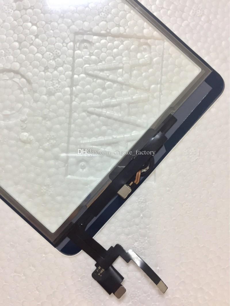 100% concluído para ipad mini 1 mini 2 touch screen digitador com ic botão home flex cable touch screen digitador assembléia substitui