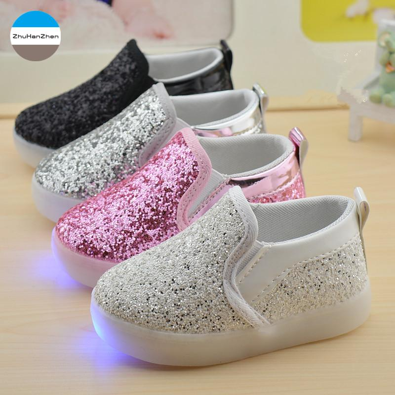 b0a491b70a9e 2018 1 5 Years Old Baby Boys And Girls Casual Shoes LED Lights Infant  Sneakers Bling Glowing Newborn Soft Bottom Shoes Toddler Kids Athletic Shoes  Clearance ...