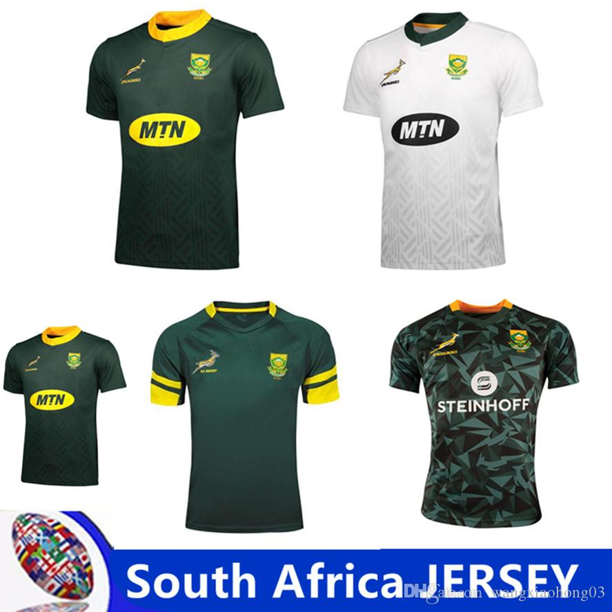 South African national team rugby jerseys South Africa Home and away Jersey shirt Springboks South African national team rugby size S-3XL