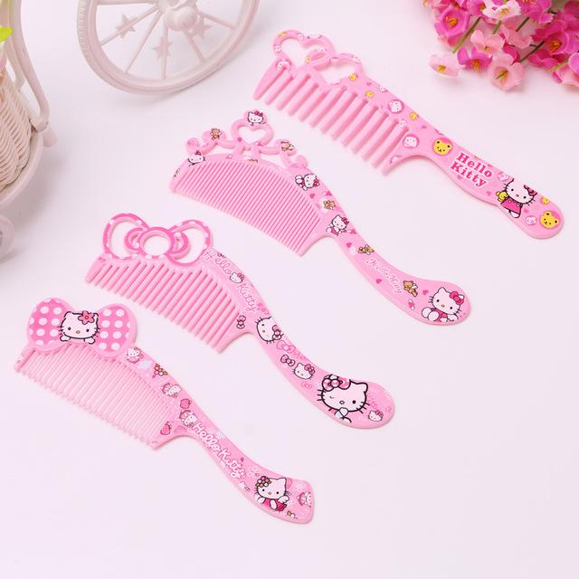 438f831a6 Cute Cartoon Hello Kitty Kids/Children/Girls Plastic Hair Brush High  Quality Portable Travel Hair Comb Makeup Tools Party Goods Party  Invitations From ...