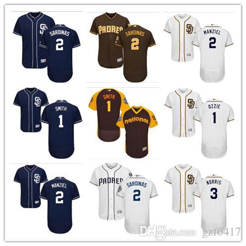 on sale 6f16d aae0c custom Men's women youth Padres Jersey #1 Ozzie Smith 2 Johnny Manziel 3  Derek Norris Home Red Blue Grey White Kids Girls Baseball Jerseys