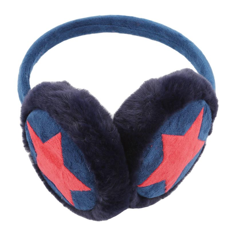 New Winter Wasrm adult star Plush fur Ear muff Adjustable Earmuffs for Children Ear cover cute Headband gift for girl multicolor