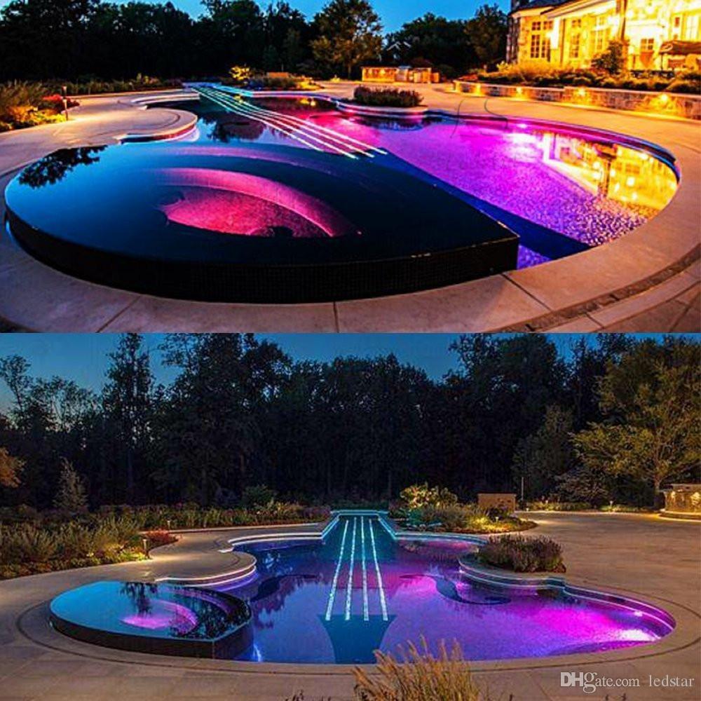 9W RGB llevó las fuentes subacuáticas de las luces de la CA 12V de la bombilla de la piscina llevaron 18W 25W 40W IP68 impermeable llevaron la luz de la piscina + teledirigido