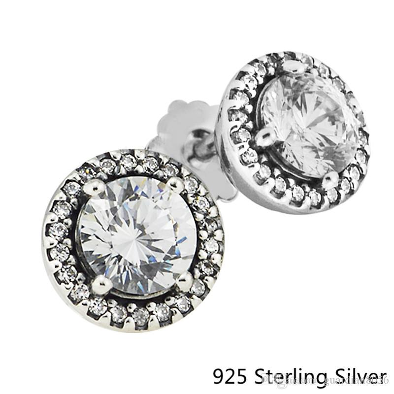 6874de793 2019 2018 New 925 Sterling Silver Classic Elegance Pandora Stud Earrings  For Women Original Jewelry Making Anniversary Gift Wholesale From  Guardian8056, ...