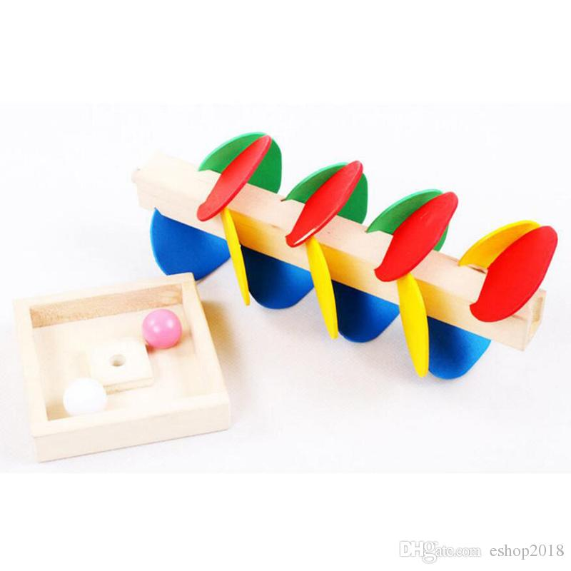 Baby Toy Blocks Wooden Tree Marble Ball Run Track Game Kids Children Intelligence Wooden Toys Creative Ball Tree Game Stitching Desktop Toys
