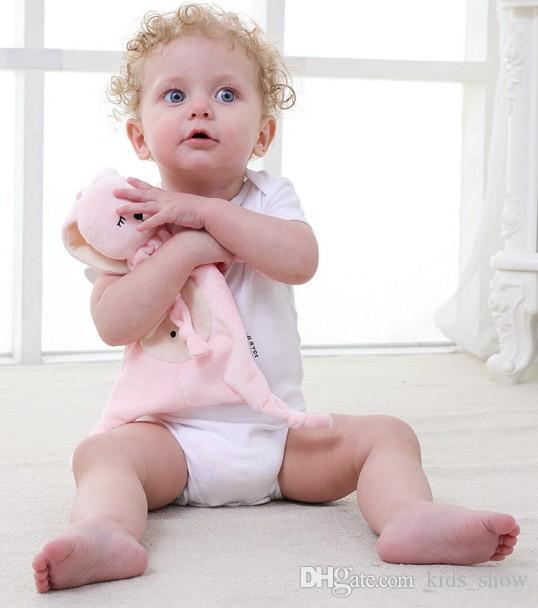Bebé de peluche de seguridad manta de juguete de la ducha del bebé regalo de peluche juguetes animales conejito elefante panda suave del bebé suave toalla sonajero juguete