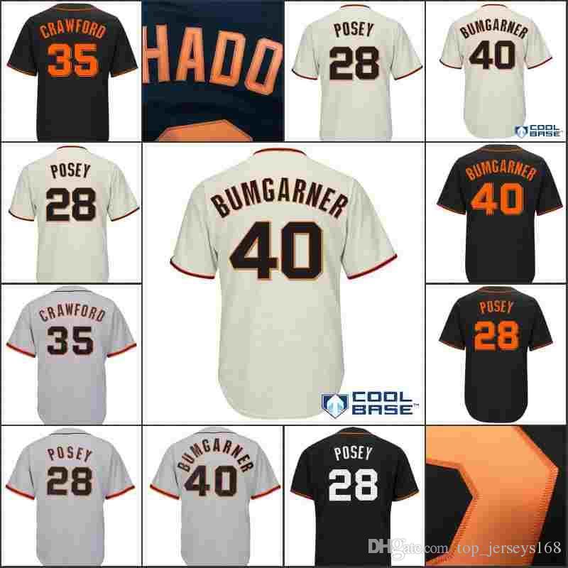 aeaf98781 2019 Hot Sale San Francisco Stitched  28 Buster Posey Jersey Men 35 Brandon  Crawford 40 Madison Bumgarner Baseball Jerseys From Top jerseys168