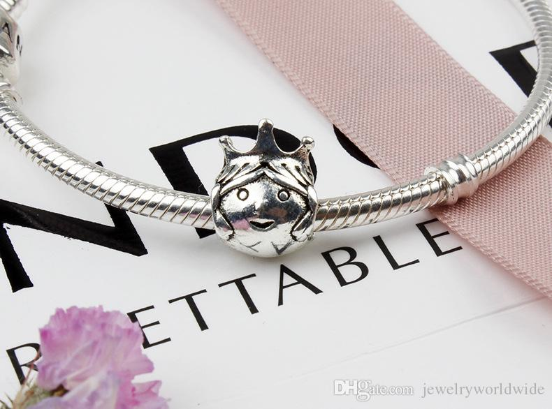 Beautiful Princess Queen Alloy Charm Bead Fashion Women Jewelry Stunning Design European Style For DIY Bracelet Necklace