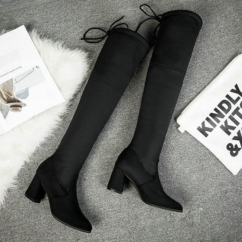 Acheter Automne Hiver Chaussures Femme Bottes 2019 Nouveau Long Bottes En  Cuir Véritable Femmes Chaussures Chaudes Rétro Élégant Confort Sur Le Genou  De ... 2966c6762b55