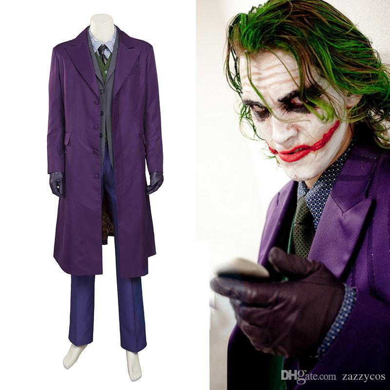 Marvelous Batman The Dark Knight Joker Cosplay Costume Full Set Halloween Costume  Theme Themes For Halloween Costumes From Zazzycos, $160.41| DHgate.Com
