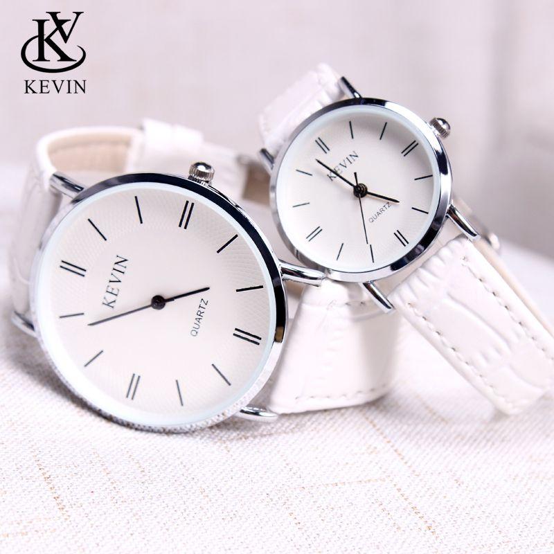 34aa865831d5 Compre Kevin Kv Cpuple Moda Reloj De Cuero Hombres Mujeres Relojes Regalo  De Los Estudiantes Presente Simple Reloj De Pulsera De Cuarzo Niñas Niños  ...