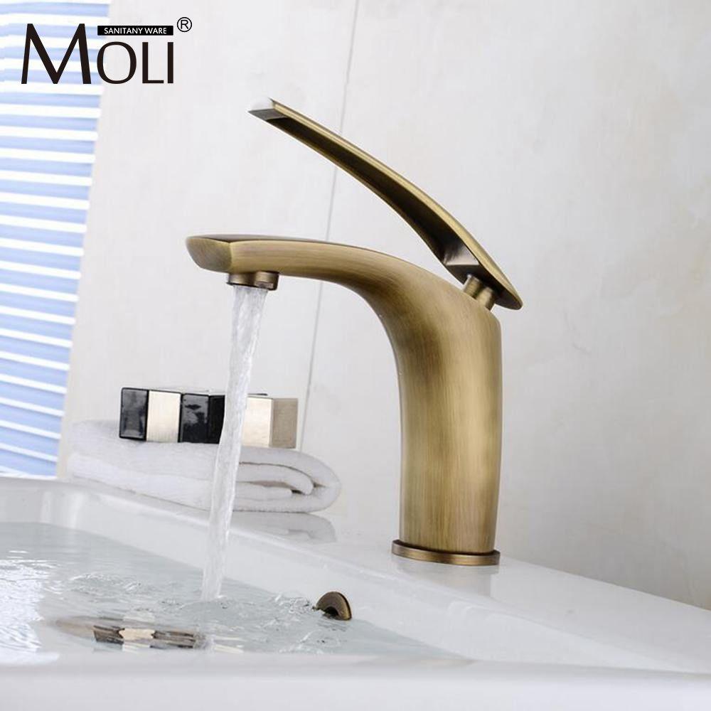 2018 Antique Bronze Basin Sink Mixer For Bathroom Vessel Sink Faucet ...