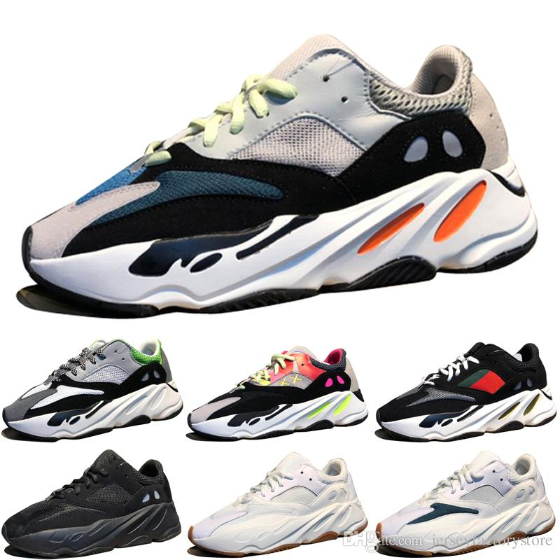 ecaa409d723ea Kanye West Wave Runner 700 Boots Grey Classic Running Shoes For Men 700s  Womens Mens Sports Sneakers Trainers Outdoor Designer Causal Shoes Running  Shoe ...