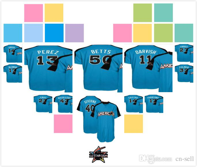 f3f8c4b80 Mens Womens Kids American League Justin Smoak 43 McCullers Luis ...