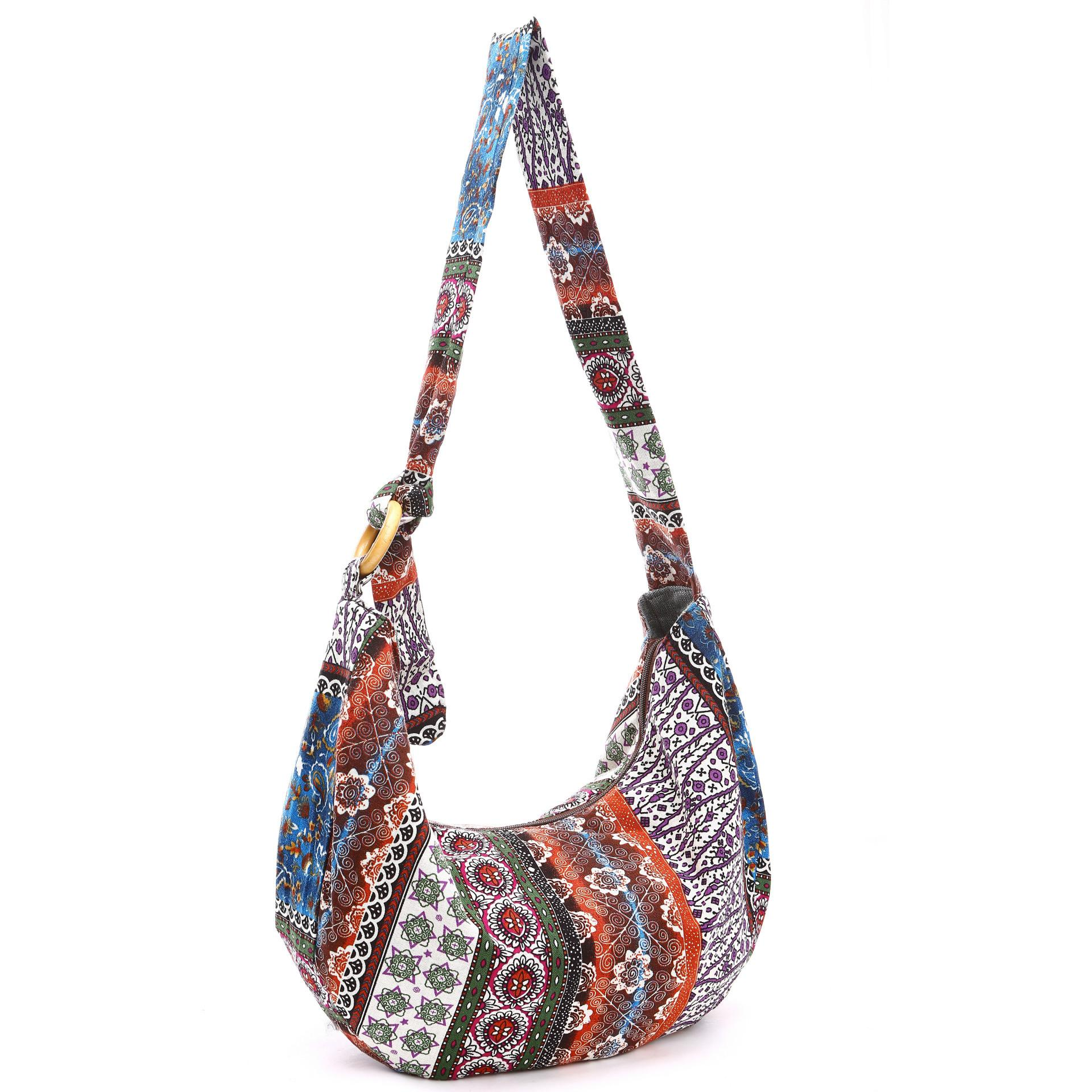 f8df3acc3b Floral Printed Hippie Cross Body Thai Top Zip Hobo Sling Bag Handmade  Hipster Casual Messenger Shopping Bag Bags Crossbody Purse Laptop Messenger  Bags From ...