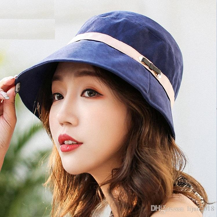 f6f5c09aad8 2019 Summer Hot Wholesale Fashion Women Hot Champion Bucket Hat Brand  Outdoor Boonie Cap Summer Beach Sun Hat From Lijun2018