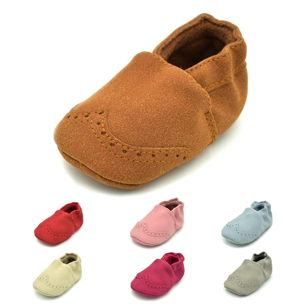 f28586a96d16 2019 Hot Newborn Baby First Walk Shoes Girl Boy Soft Nubuck Leather  Prewalker Anti Slip Shoes Moccasins Footwear Toddler From Oliveer