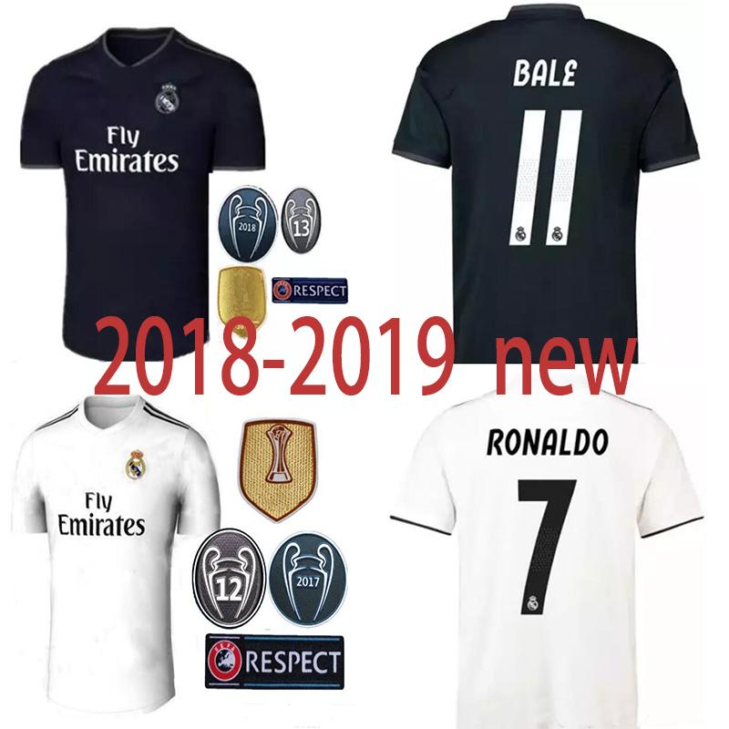 2019 Top Quality 2018 2019 Real Madrid Soccer Jersey RONALDO MODRIC CROSS  SERGIO RAMOS BALE ASENSIO ISCO Champions League 13 Cup Football Shirt From  ... b23b90b9b