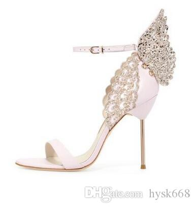 e9257170246 Sophia Webster Butterfly Sandals Fashion Sophia Webster Evangeline Angel  Wing Sandals High Heeled Stiletto Ankle Strap Lady Sandals Shoes White  Mountain ...