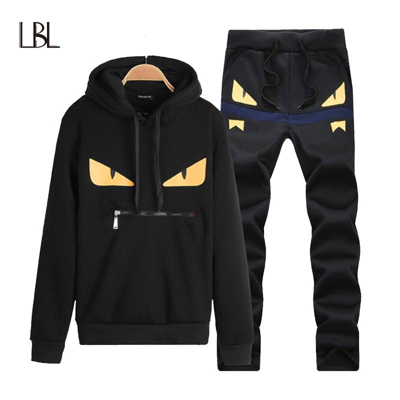 8ec510dcfab LBL Brand Casual Mens Tracksuit Hip Hop Sweat Suits Sets Hooded Tracksuits  Male Streetwear Jogger Top + Sweatpants Set Plus Size