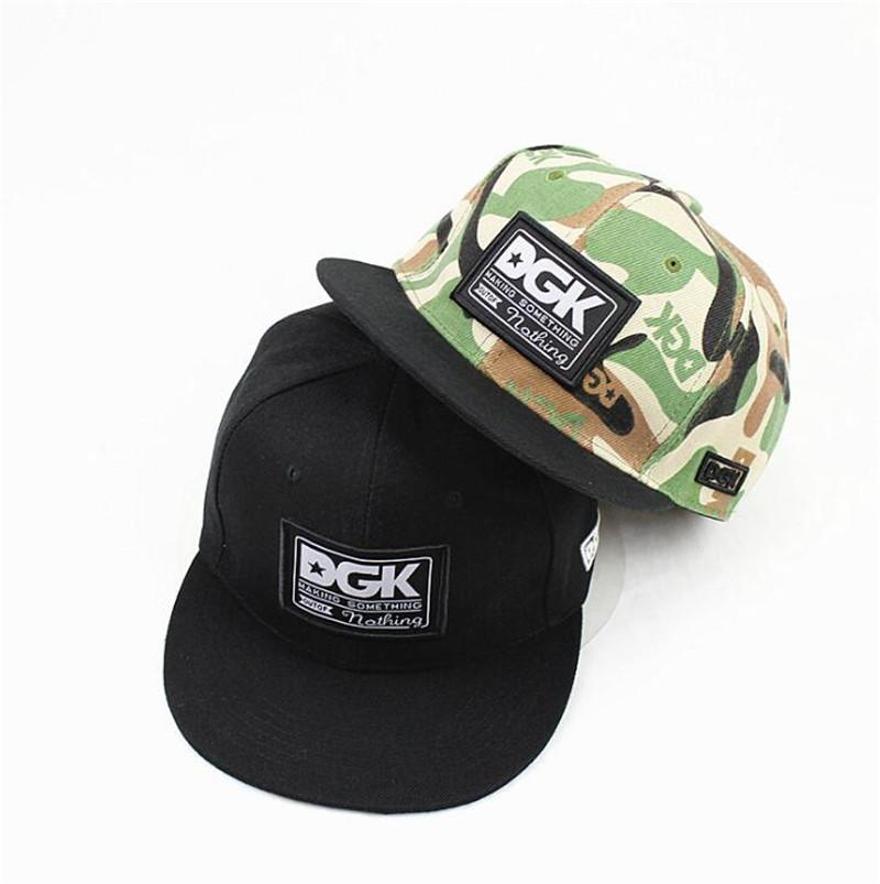 fce22f89 Hip Hop Mens Skateboard DGK Hats Adjustable Black Camo Color Snapback Hats  Fashion Hiphop Women Dancing Baseball Cap Drop Shipping Flat Caps For Men  Womens ...