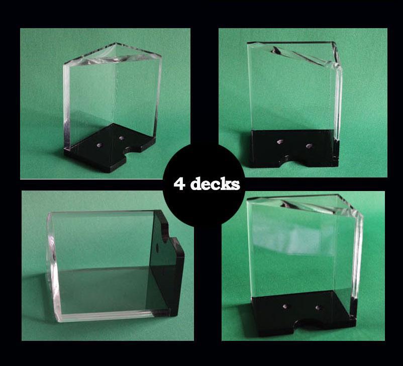 Titolare della carta da gioco 4 o 8 punti Acryl Poker Accessorio del gioco Black jack Baccarat