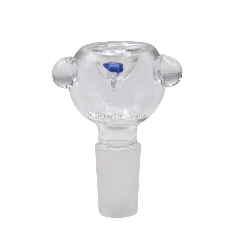 Colorfull Mini Glass Carb Cap for Quartz Bangers Glass bongs Hookah Oil Burner Pipe Glass Bowl