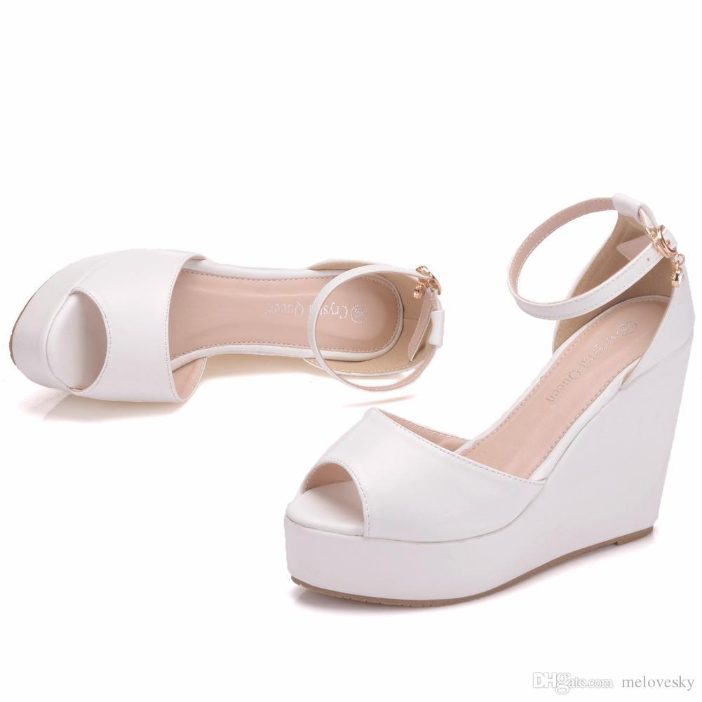 03dbde49d4f New Bohemia Style Peep Toe Shoes For Women Hemp Rope Wedge Heels Fashion  Platform Beading Wedding Shoes Wedge Heels Plus Size Bridal Sandals Mens  Leather ...